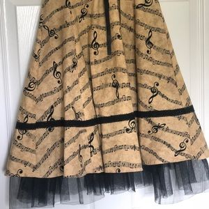Hot Topic Dresses - Hot Topic Musical Notes Dress Size XS